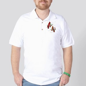 Two Christmas Birds Golf Shirt