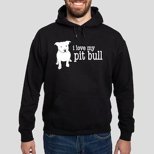 Love My Pit Bull Hoodie (dark)