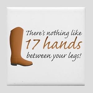 17 Hands Tile Coaster