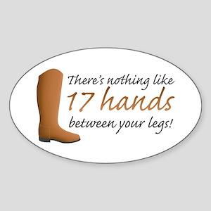 17 Hands Sticker (Oval)