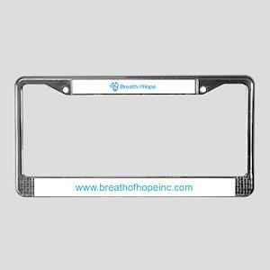 2010 Breath of Hope Logo License Plate Frame