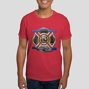 Dark T-Shirt Firefighter fire department shield