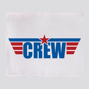 Aviation Crew Wings Throw Blanket