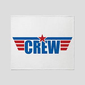 Aviation Crew Wings Throw Blanket