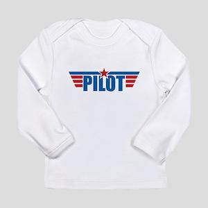 Pilot Aviation Wings Long Sleeve Infant T-Shirt