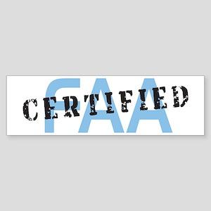 Aviation FAA Certified Sticker (Bumper)