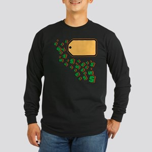 Price Tag Long Sleeve Dark T-Shirt