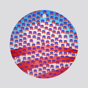 Obama Covered by Republicans Ornament (Round)