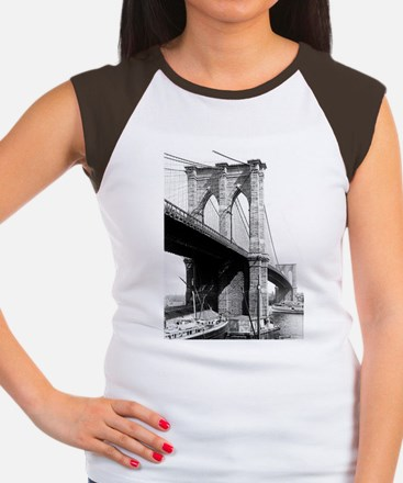 Brooklyn Bridge Women's Cap Sleeve T-Shirt