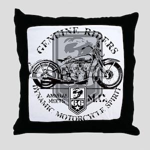 Bikers Throw Pillow