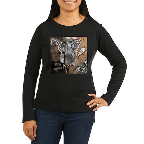 Chaos Rise Up T-Shirt Women's Long Sleeve Dark T-S