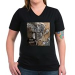 Chaos Rise Up T-Shirt Women's V-Neck Dark T-Shirt