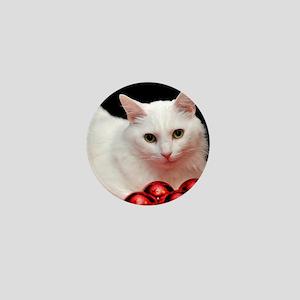 Xmas Cat Mini Button