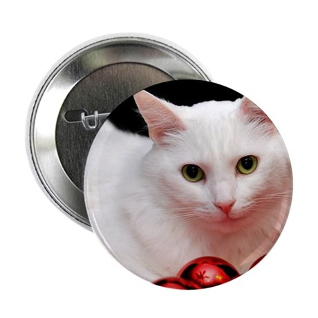 "Xmas Cat 2.25"" Button"
