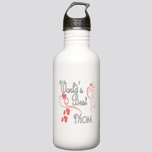 Best Mom (Pink Hearts) Stainless Water Bottle 1.0L