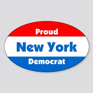Proud New York Democrat Oval Sticker