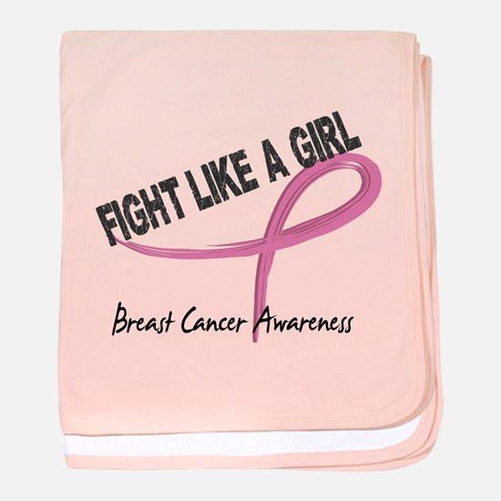 Licensed Fight Like a Girl 7.3 baby blanket