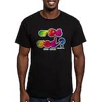 Got ASL? Rainbow SQ CC Men's Fitted T-Shirt (dark)