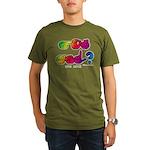Got ASL? Rainbow SQ CC Organic Men's T-Shirt (dark