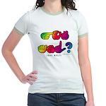 Got ASL? Rainbow SQ CC Jr. Ringer T-Shirt