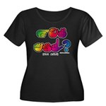 Got ASL? Rainbow SQ CC Women's Plus Size Scoop Nec