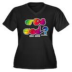 Got ASL? Rainbow SQ CC Women's Plus Size V-Neck Da