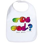 Got ASL? Rainbow SQ CC Bib