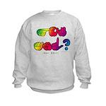 Got ASL? Rainbow SQ CC Kids Sweatshirt