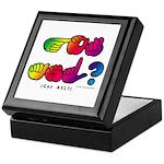 Got ASL? Rainbow SQ CC Keepsake Box