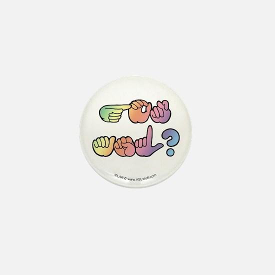 Got ASL? Pastel SQ Mini Button