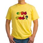 Got ASL? Rainbow SQ Yellow T-Shirt