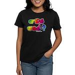 Got ASL? Rainbow SQ Women's Dark T-Shirt