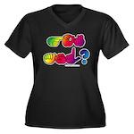 Got ASL? Rainbow SQ Women's Plus Size V-Neck Dark
