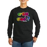Got ASL? Rainbow SQ Long Sleeve Dark T-Shirt