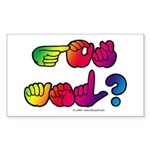 Got ASL? Rainbow SQ Sticker (Rectangle 10 pk)