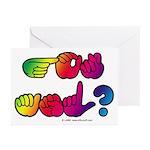 Got ASL? Rainbow SQ Greeting Cards (Pk of 20)