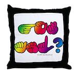 Got ASL? Rainbow SQ Throw Pillow