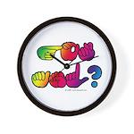 Got ASL? Rainbow SQ Wall Clock