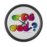 Got ASL? Rainbow SQ Large Wall Clock