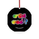 Got ASL? Rainbow SQ Ornament (Round)