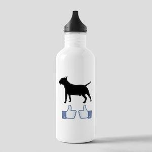Miniature Bull Terrier Stainless Water Bottle 1.0L