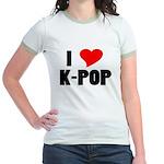 I Love K-pop Ringer T-Shirt