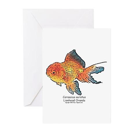 Carassius auratus Lionhead or Greeting Cards (Pack