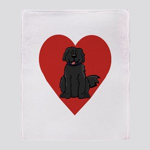 Love Newfie Throw Blanket