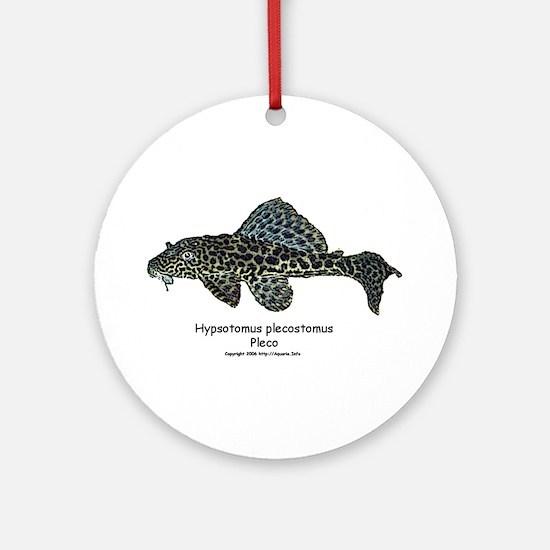 Hypostomus plecostomus Ornament (Round)