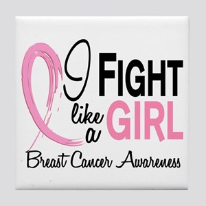 Licensed Fight Like a Girl 10.1 Tile Coaster