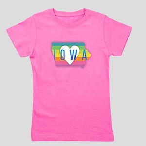 Iowa Heart Rainbow T-Shirt