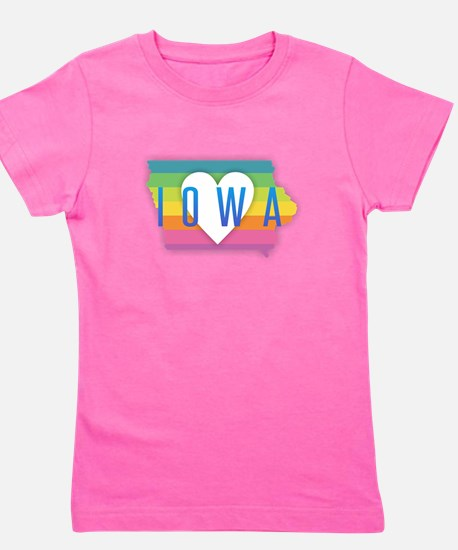 Iowa Heart Rainbow T-Shirt