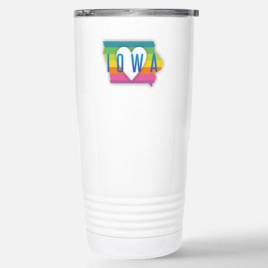 Iowa Heart Rainbo Travel Mug
