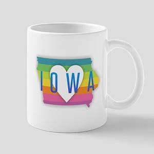 Iowa Heart Rainbow Mugs